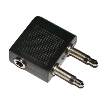 Adapter plug hoofdtelefoonstekker voor in vliegtuigen