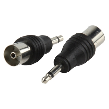 Adapter plug 3.5mm mono male to coax female