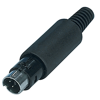Mini DIN plug 6 pins male