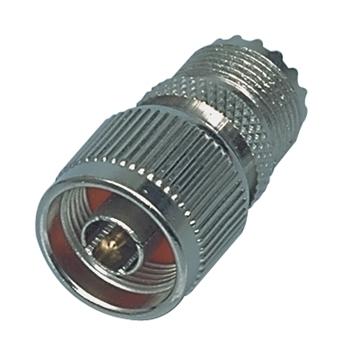 N-plug to UHF contra plug adapter