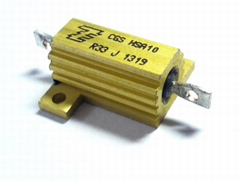 Resistor 0.33 Ohms 16 Watt 5% with heatsink