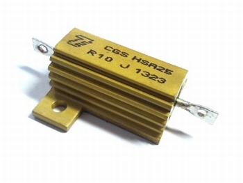 Weerstand 0,15 Ohm 25 Watt 5% met koellichaam