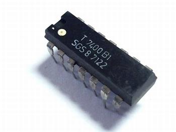 7400 Quad 2 i/p NAND gate