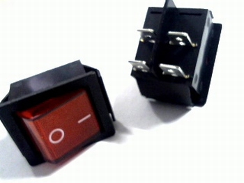 Universal 2-pole switch red 16A