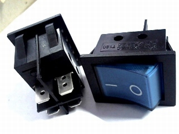 Universal 2-pole switch blue DPST