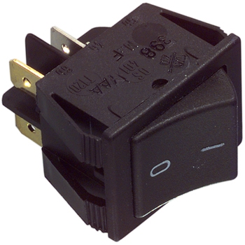 Universal 2-pole switch black 16A