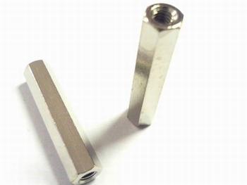 Metalen afstandsbus zeskant 25mm