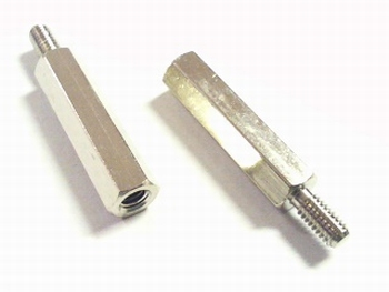 Metal distance holder 20mm with screw-end