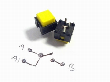 Pushbutton momentary switch Yellow Radiohm ST1034