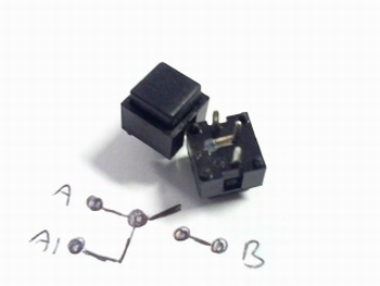 Drukschakelaar momentcontact Zwart vierkant Radiohm ST1034E