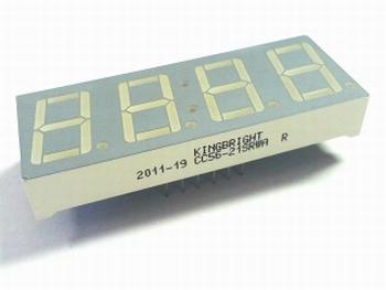 Led display 4 x 7 segments rood Kingsbright CC56-21SRWA