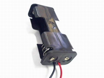 Battery holder for two AA cells sideloader