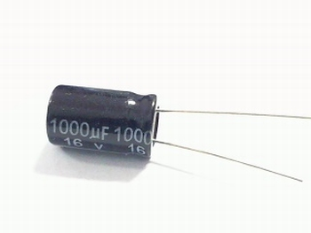 10 x electrolytic capacitors 1000 uf - 16 volts