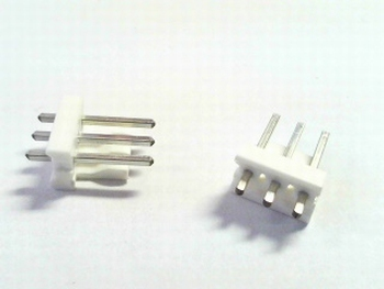 Printplaat 3 way connector MTA-156 3.96mm