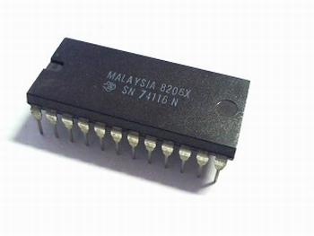 74116 dual 4 bit dtype latch