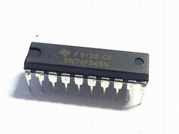 74F245 bus transciever, 20 Pin, Plastic, DIP