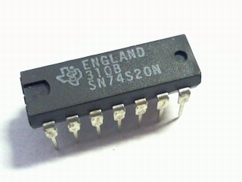 74S20 dual 4-input positive NAND