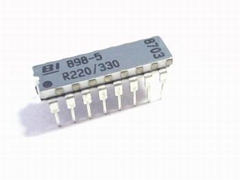 Resistor array 898-5-R220/330 dual resistor