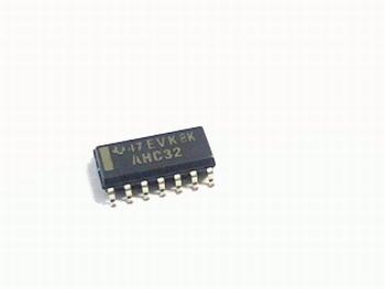 74AHC32D Quad 2-input OR gate