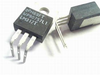 LM317 spanningsregelaar TO-220 voorgebogen