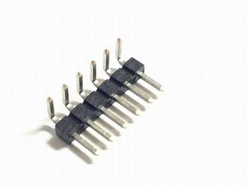 Header enkel 6 pins 2,54mm haaks