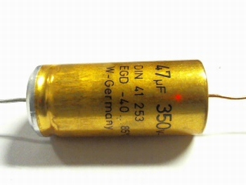 Electrolytic capacitor 47 uF 350Volts