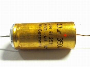 Electrolytische bipolaire condensator  ROE 47 uF 350 Volt