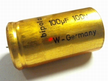 Electrolytic capacitor bipolar 100 uF 100Volts