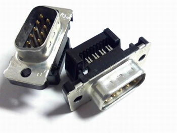 Sub D connector male 9 polig flatcable