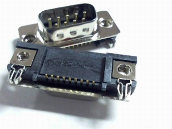 Sub D 9 pins male SMD