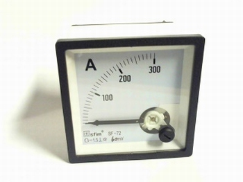 paneelmeter 0-300 ampere DC