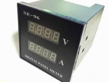 Digital panelmeter 5V-DC and 5A-DC