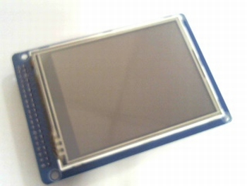 LCD display 320x480 TFT 3.2 i. with touchscreen and SD entry