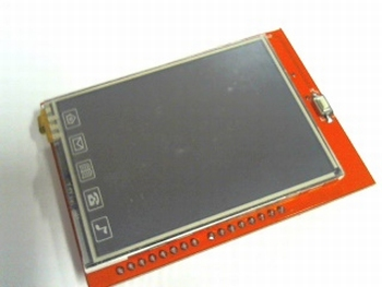 "2,4"" inch TFT Touch Screen with SD entry"