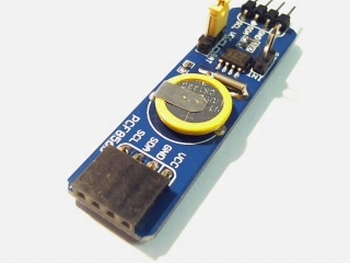PCF8563 real time clock module with backup battery