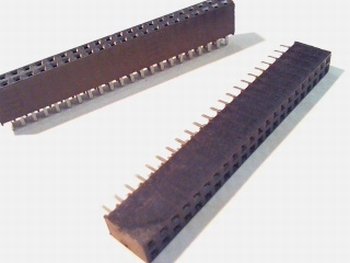 Female Header 2,54 mm straight 2 x 22