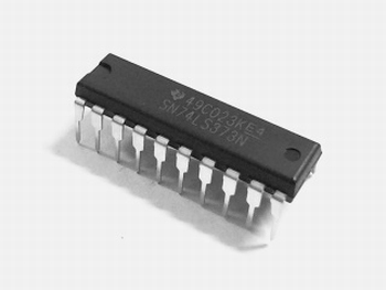 74LS373  3 state 8 bit D latch 8 channels