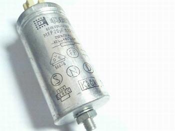 Startcondensator 20 uf metaal