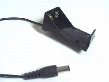 Batterijhouder voor 9 volt batterij met aansluitplug