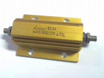 Resistor 10 Ohms 100 Watt 5% with heatsink