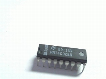 74C928  4-DIG. COUNTER MULTIPL. 7 SEGMENTS DIP18