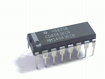CD4543 BCD to 7-segment Decoder