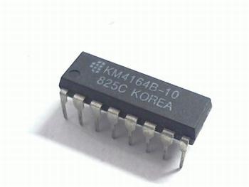 4164-10 DRAM 64K X 1