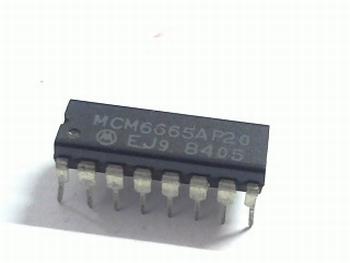 MCM6665 64Kx1 16-Pin Dip RAM