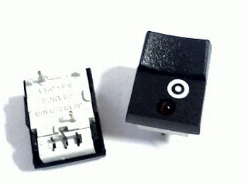 Pushswitch with momentary contact and LED indicator