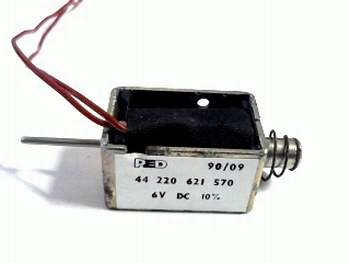 Solinoid PUSH/PULL 6V DC.