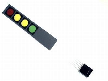 Zelfklevend membraam keyboard 4 kleur toetsen