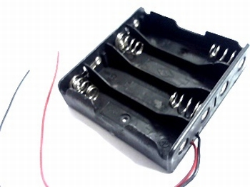 Battery holder 4 x AA with wire connections