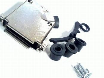 Enclosure chromelook for Sub D 25 pins connectors