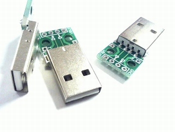 USB A 4 input PCB with solderconnections